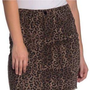 Tasha Polizzi / Leopard Print Denim Skirt